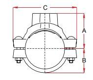 Mechanisch t-stuk draad type 08T